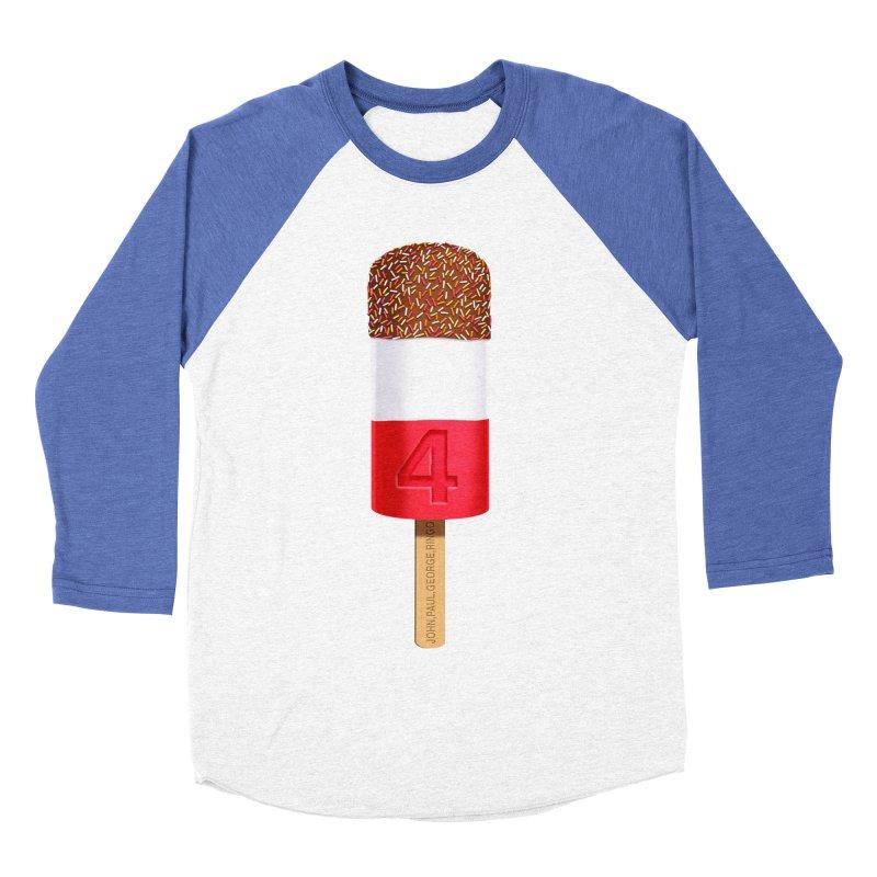 FAB 4 Men's Baseball Triblend T-Shirt by steveash's Artist Shop