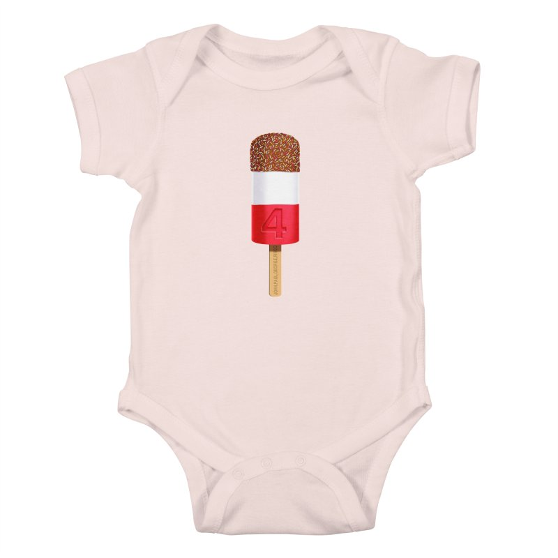 FAB 4 Kids Baby Bodysuit by steveash's Artist Shop