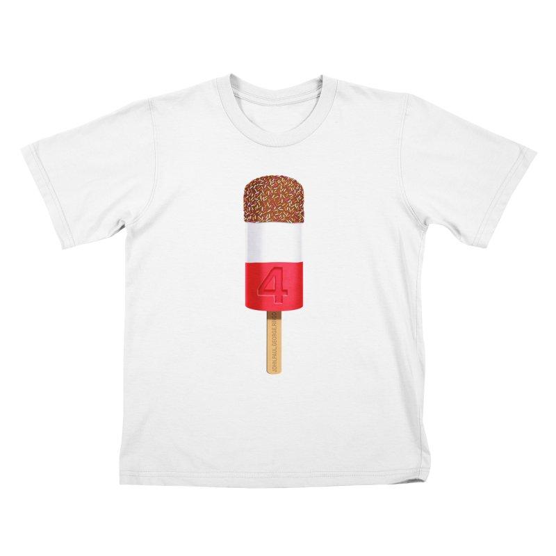 FAB 4 Kids T-shirt by steveash's Artist Shop