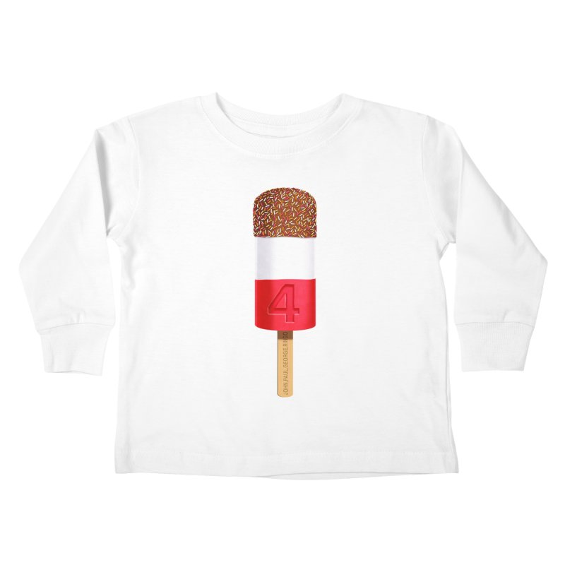 FAB 4 Kids Toddler Longsleeve T-Shirt by steveash's Artist Shop