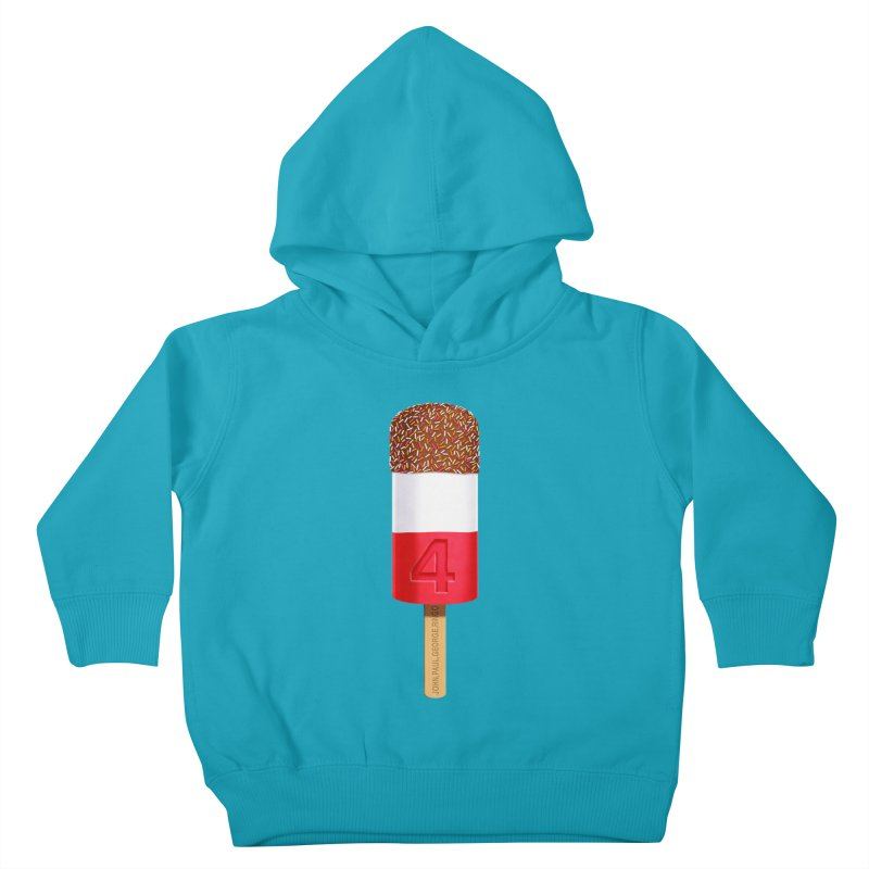 FAB 4 Kids Toddler Pullover Hoody by steveash's Artist Shop