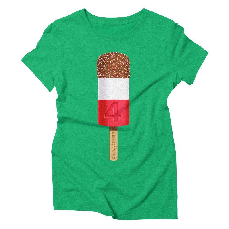 FAB 4 Women's Triblend T-Shirt by steveash's Artist Shop