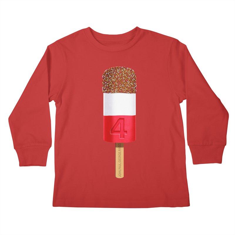 FAB 4 Kids Longsleeve T-Shirt by steveash's Artist Shop