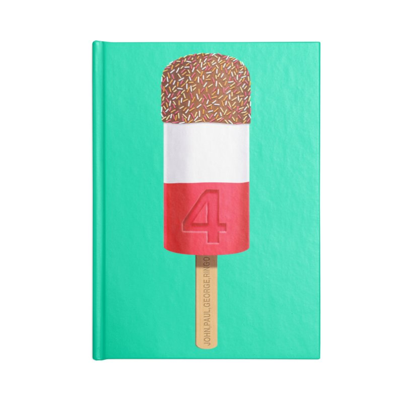 FAB 4 Accessories Notebook by steveash's Artist Shop