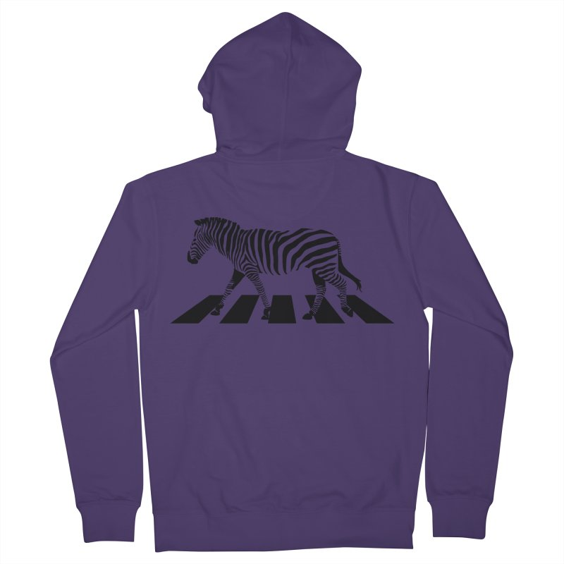 Zebra Crossing Women's French Terry Zip-Up Hoody by steveash's Artist Shop