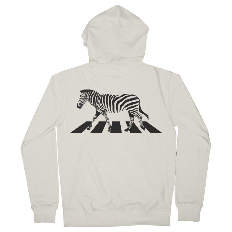Zebra Crossing Men's Zip-Up Hoody by steveash's Artist Shop