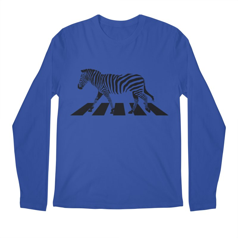 Zebra Crossing Men's Longsleeve T-Shirt by steveash's Artist Shop