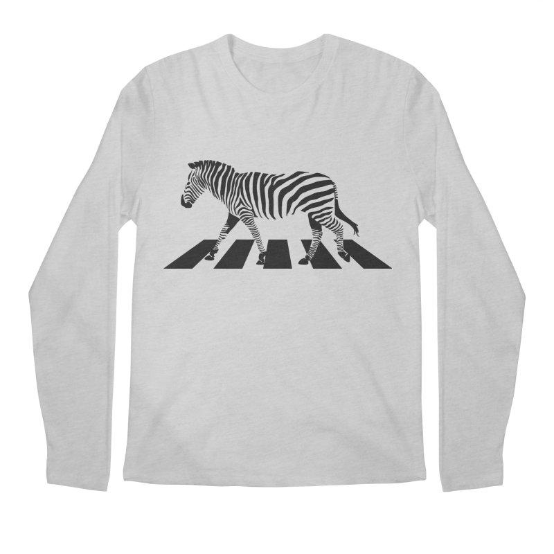 Zebra Crossing Men's Longsleeve T-Shirt by steveash's Artist Shop