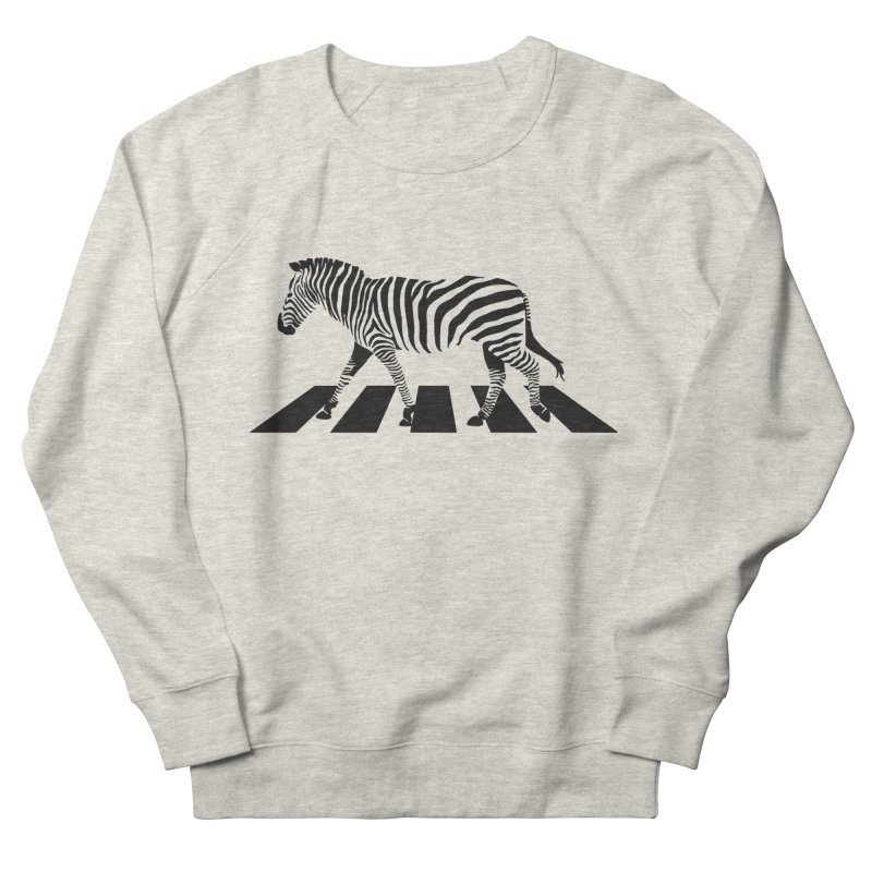 Zebra Crossing Women's French Terry Sweatshirt by steveash's Artist Shop