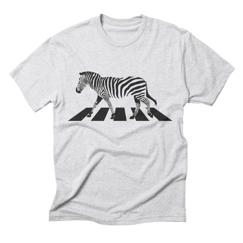 Zebra Crossing Men's Triblend T-Shirt by steveash's Artist Shop