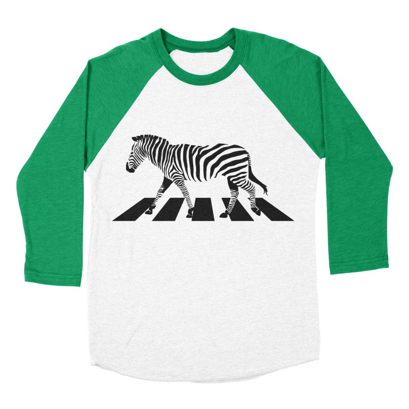 Zebra Crossing Women's Baseball Triblend T-Shirt by steveash's Artist Shop