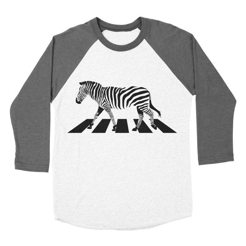 Zebra Crossing Men's Baseball Triblend T-Shirt by steveash's Artist Shop
