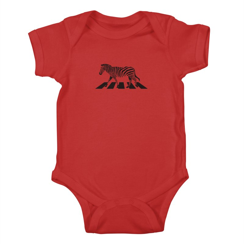 Zebra Crossing Kids Baby Bodysuit by steveash's Artist Shop