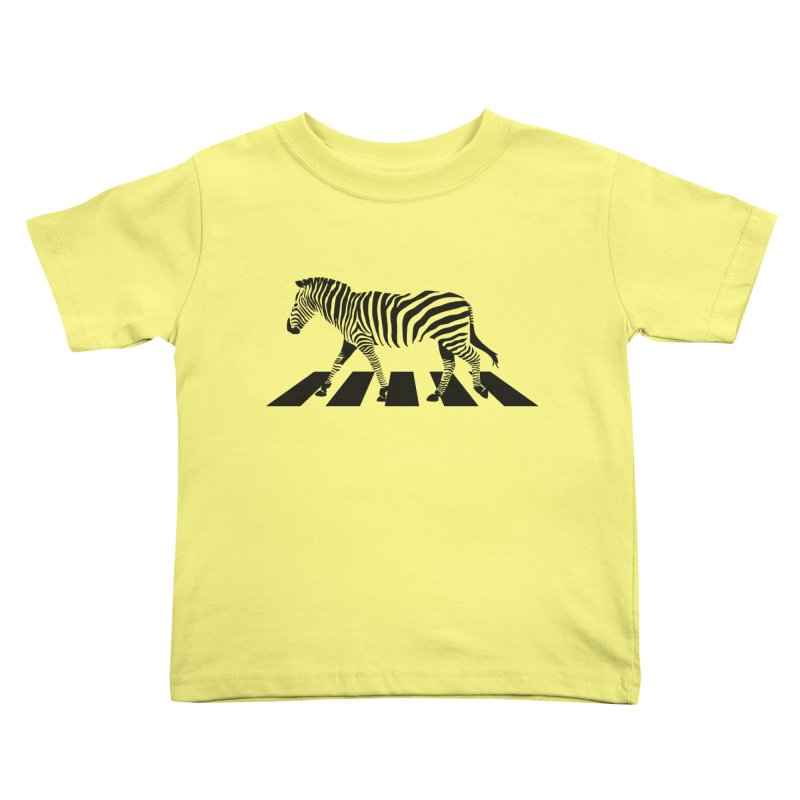 Zebra Crossing Kids Toddler T-Shirt by steveash's Artist Shop