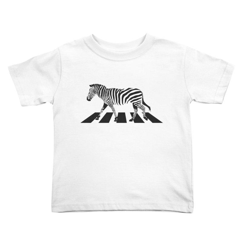 Zebra Crossing Kids Toddler T-Shirt by steveash's Artist Shop