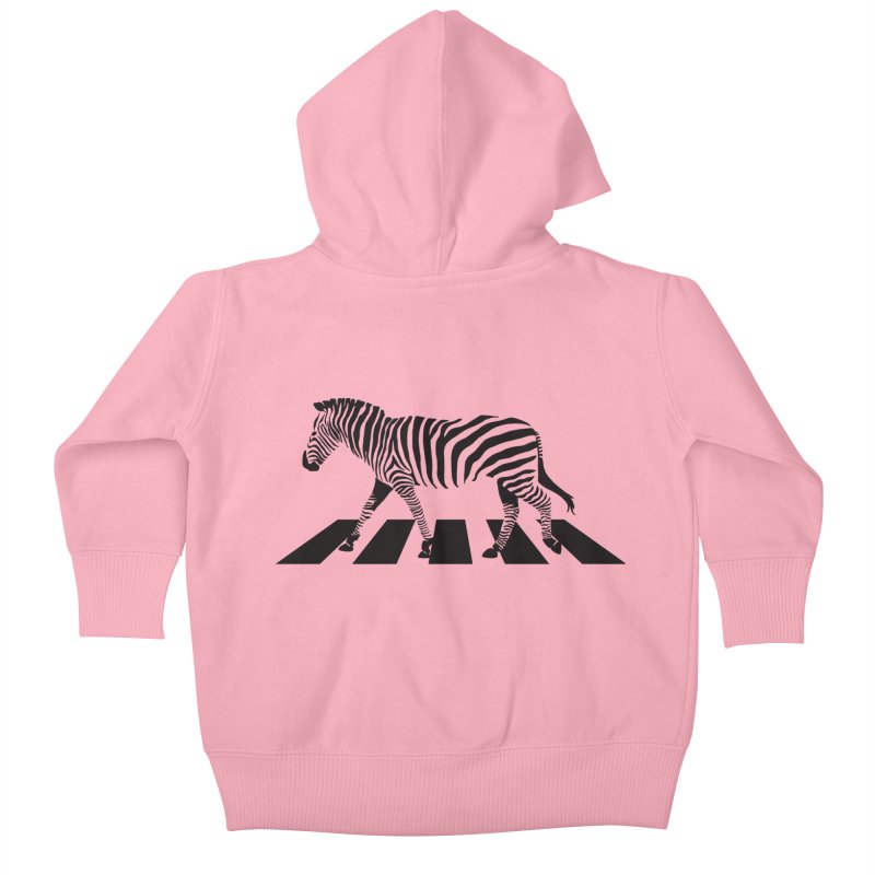 Zebra Crossing Kids Baby Zip-Up Hoody by steveash's Artist Shop