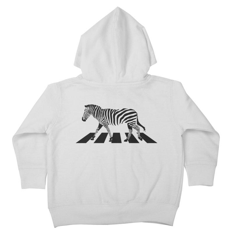 Zebra Crossing Kids Toddler Zip-Up Hoody by steveash's Artist Shop