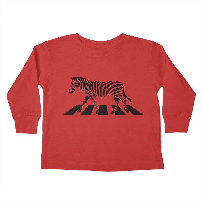 Zebra Crossing Kids Toddler Longsleeve T-Shirt by steveash's Artist Shop