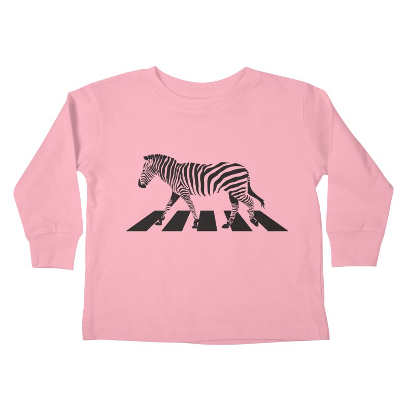 Zebra Crossing Kids Toddler Longsleeve T-Shirt by steveash's Artist Shop