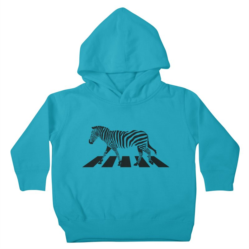 Zebra Crossing Kids Toddler Pullover Hoody by steveash's Artist Shop