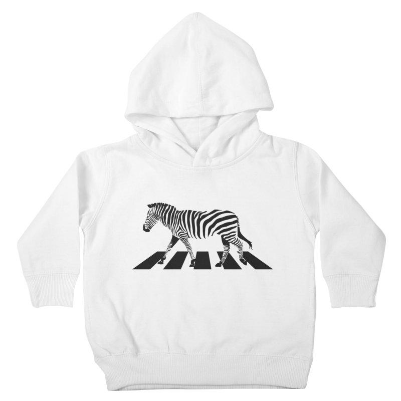 Zebra Crossing Kids Toddler Pullover Hoody by steveash's Artist Shop