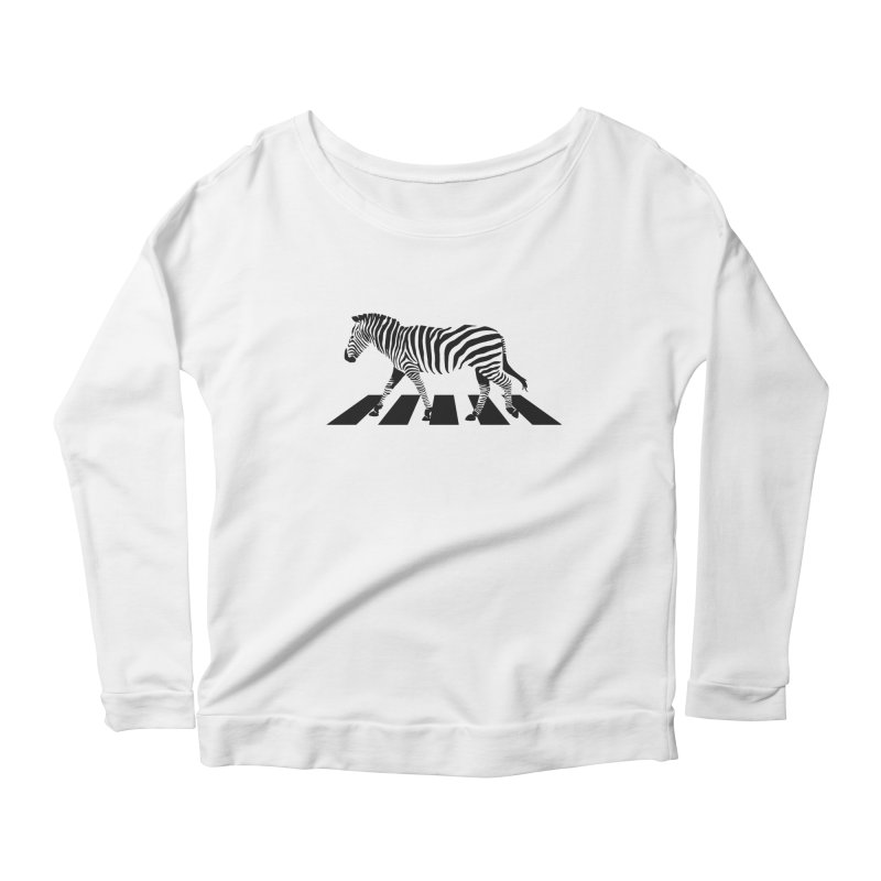 Zebra Crossing Women's Scoop Neck Longsleeve T-Shirt by steveash's Artist Shop