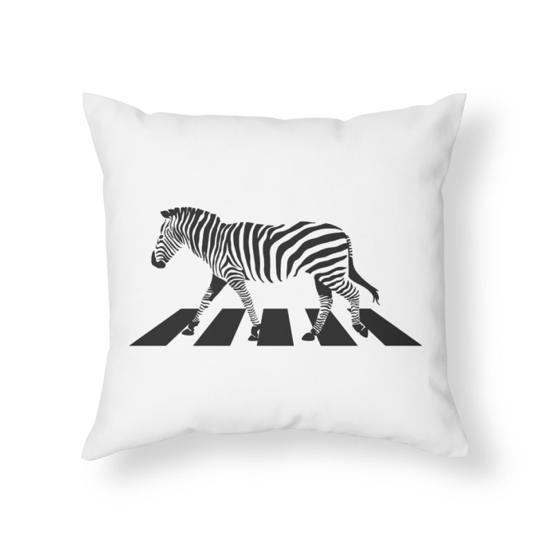 Zebra Crossing Home Throw Pillow by steveash's Artist Shop