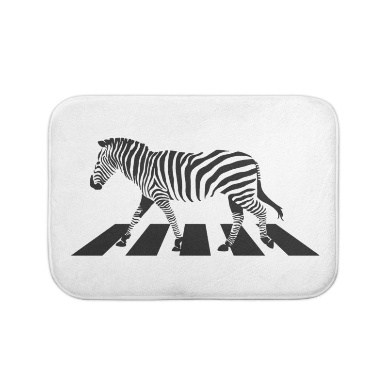 Zebra Crossing Home Bath Mat by steveash's Artist Shop