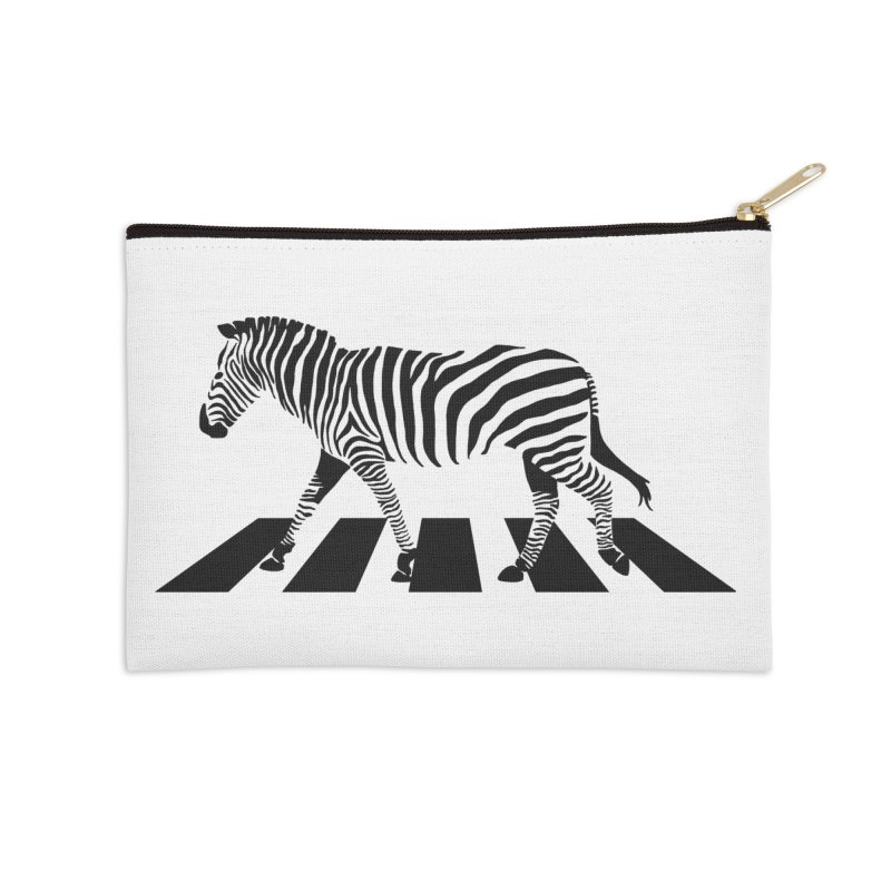 Zebra Crossing Accessories Zip Pouch by steveash's Artist Shop