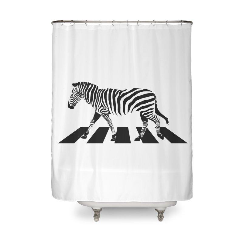 Zebra Crossing Home Shower Curtain by steveash's Artist Shop