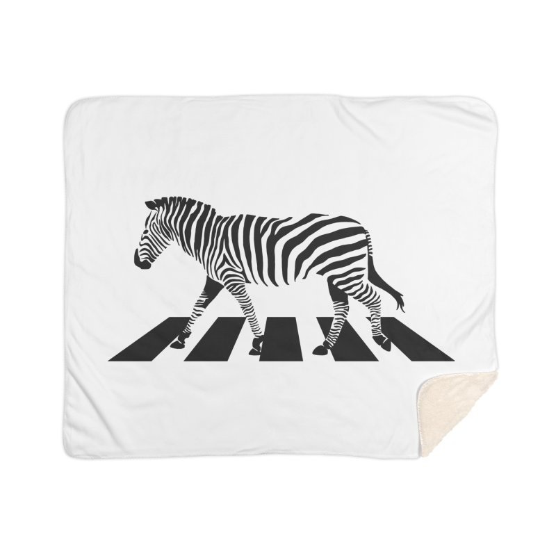 Zebra Crossing Home Sherpa Blanket Blanket by steveash's Artist Shop