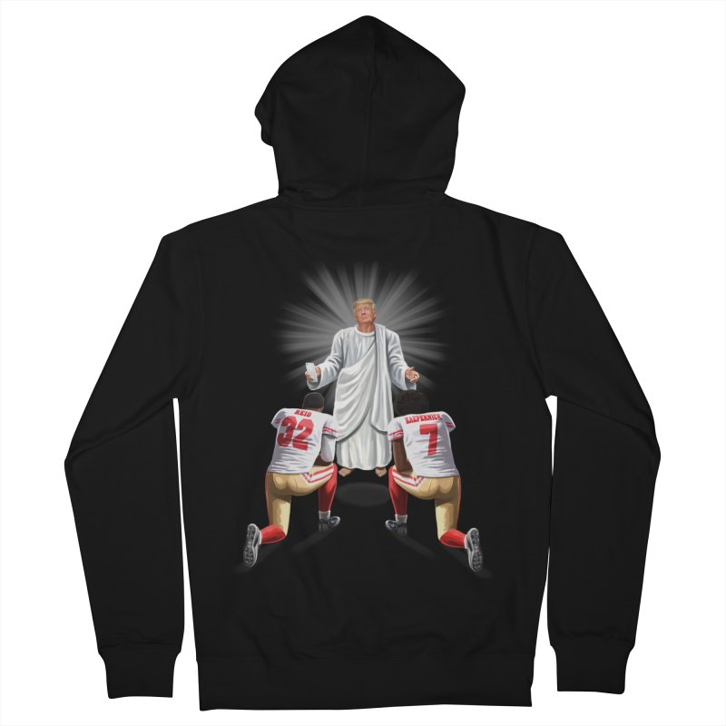 You Will Stand for Me im God. Women's French Terry Zip-Up Hoody by steveash's Artist Shop