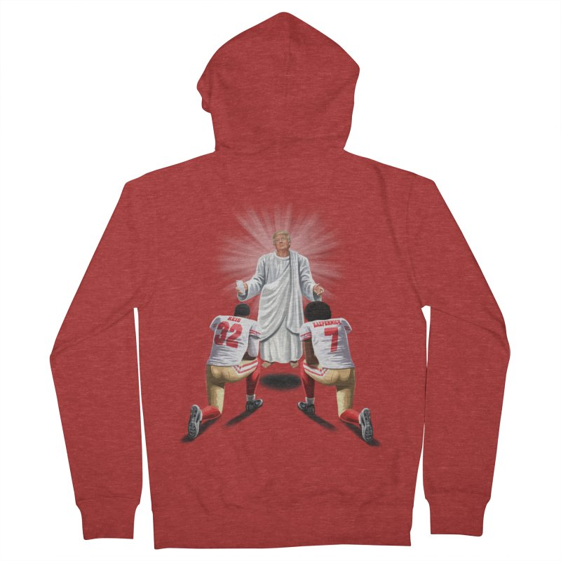 You Will Stand for Me im God. Men's Zip-Up Hoody by steveash's Artist Shop