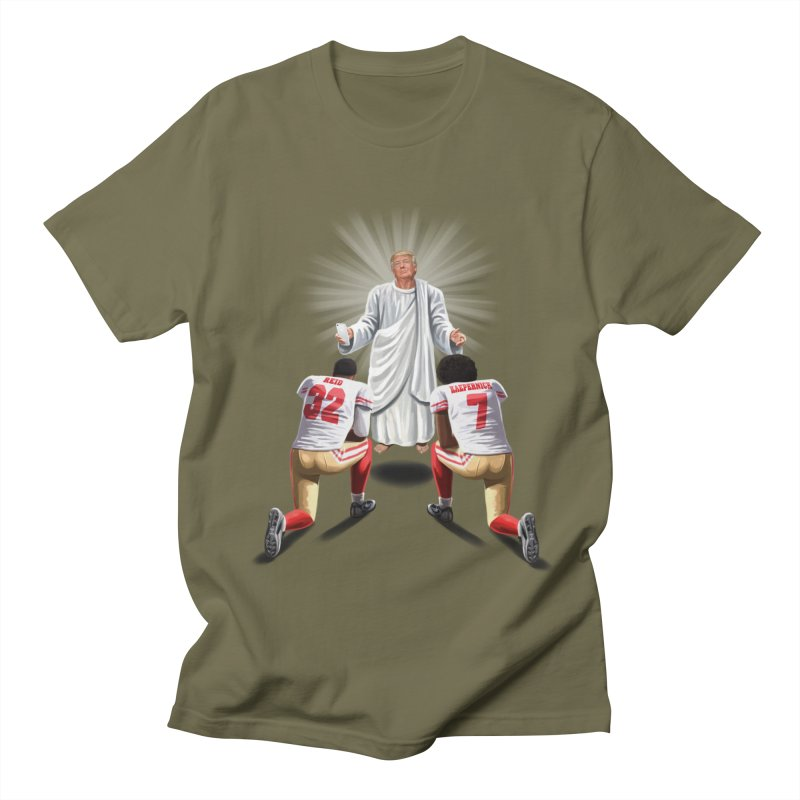 You Will Stand for Me im God. Men's Regular T-Shirt by steveash's Artist Shop
