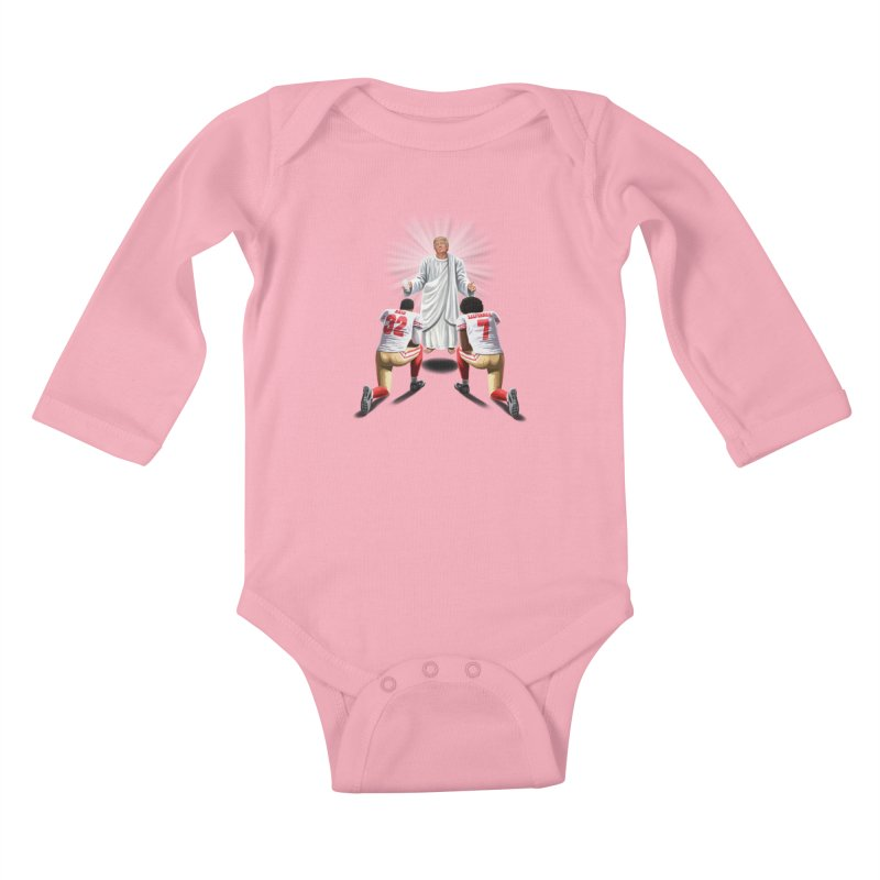 You Will Stand for Me im God. Kids Baby Longsleeve Bodysuit by steveash's Artist Shop