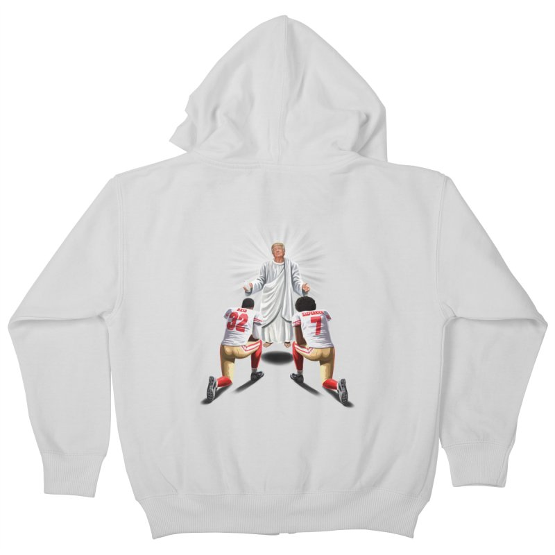 You Will Stand for Me im God. Kids Zip-Up Hoody by steveash's Artist Shop
