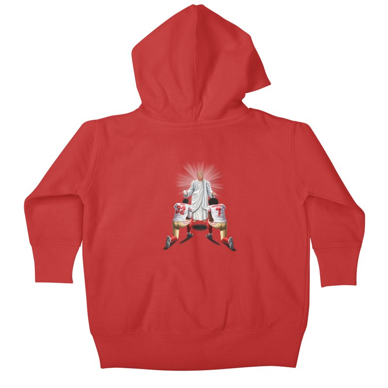 You Will Stand for Me im God. Kids Baby Zip-Up Hoody by steveash's Artist Shop