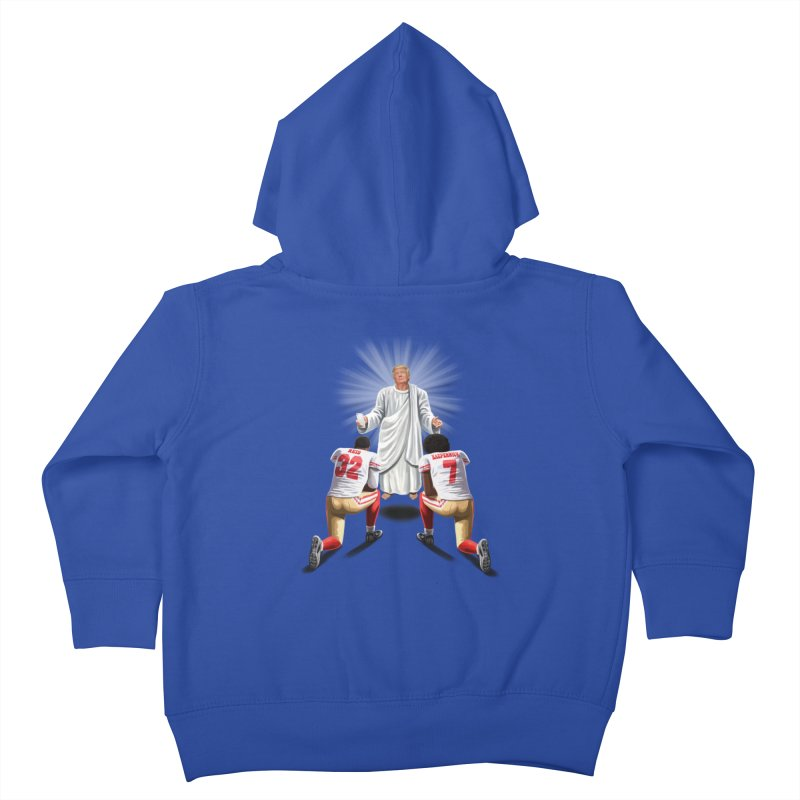 You Will Stand for Me im God. Kids Toddler Zip-Up Hoody by steveash's Artist Shop