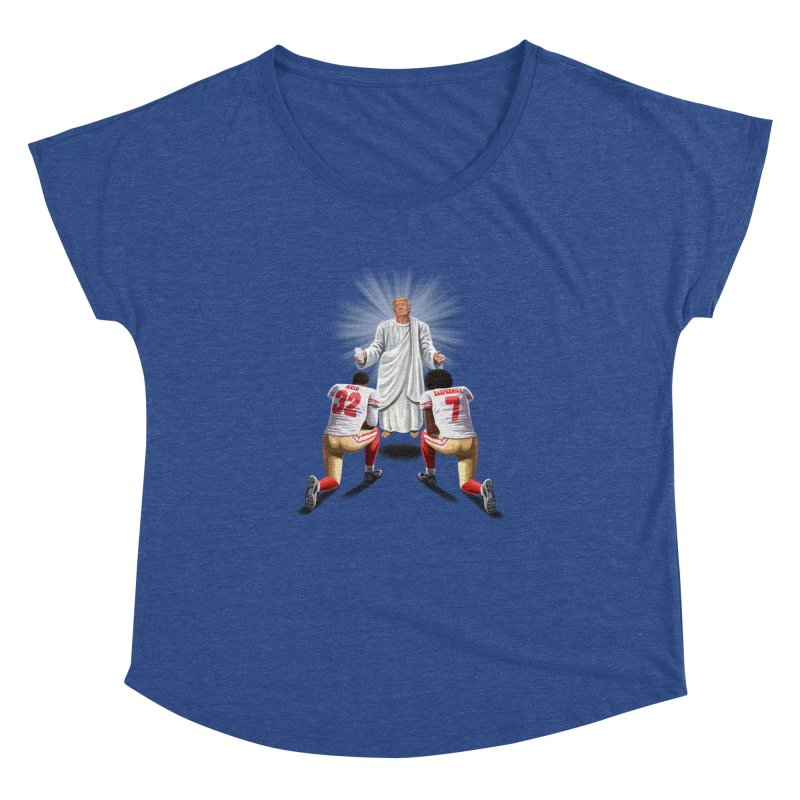 You Will Stand for Me im God. Women's Dolman Scoop Neck by steveash's Artist Shop