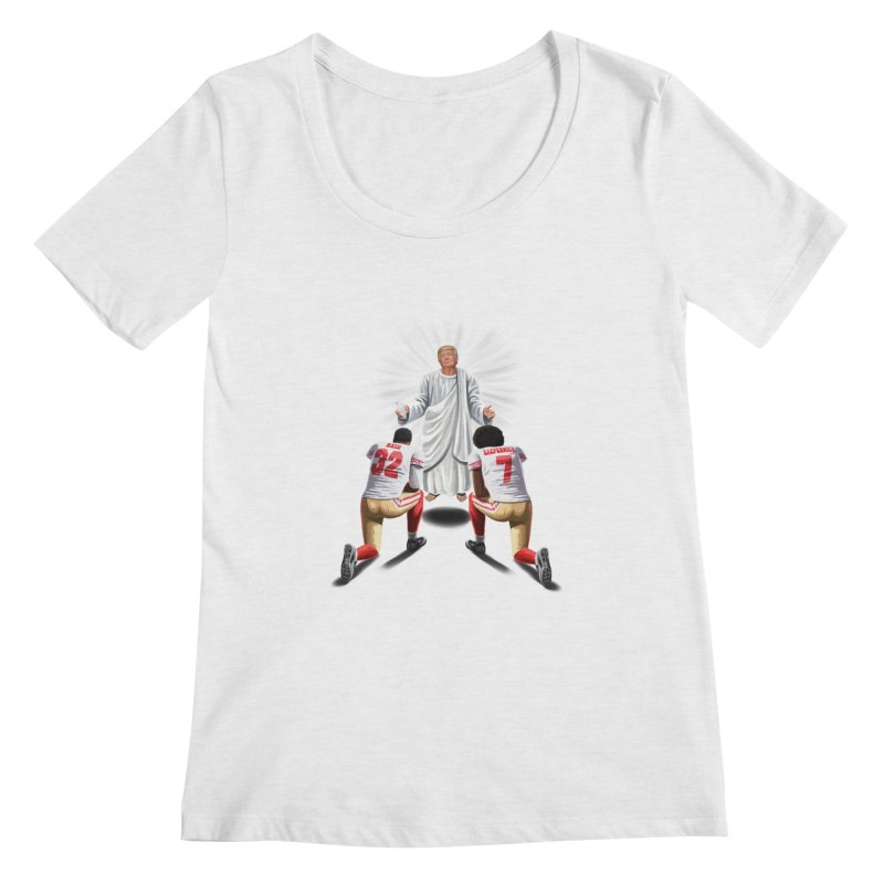 You Will Stand for Me im God. Women's Scoopneck by steveash's Artist Shop