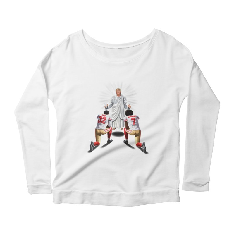 You Will Stand for Me im God. Women's Longsleeve Scoopneck  by steveash's Artist Shop