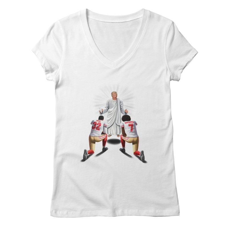 You Will Stand for Me im God. Women's V-Neck by steveash's Artist Shop