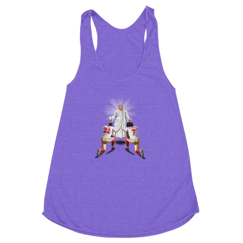 You Will Stand for Me im God. Women's Racerback Triblend Tank by steveash's Artist Shop