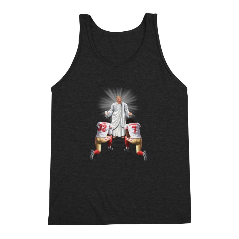 You Will Stand for Me im God. Men's Triblend Tank by steveash's Artist Shop