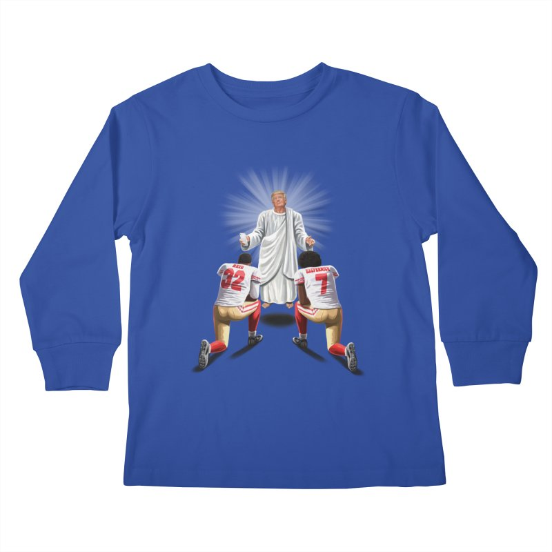 You Will Stand for Me im God. Kids Longsleeve T-Shirt by steveash's Artist Shop