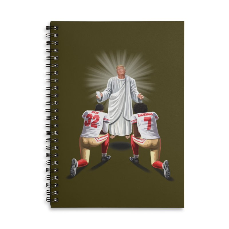 You Will Stand for Me im God. Accessories Lined Spiral Notebook by steveash's Artist Shop