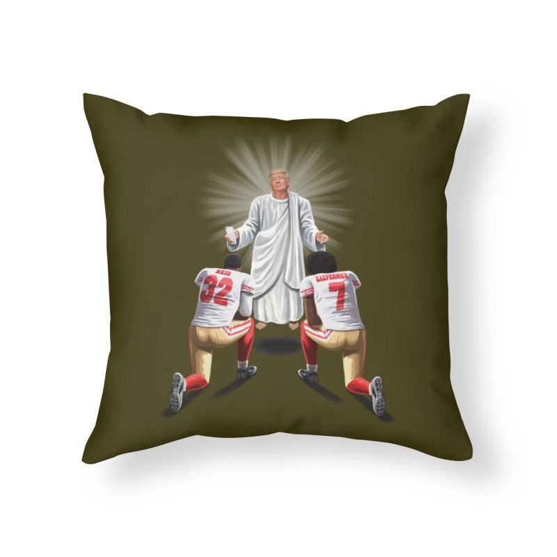 You Will Stand for Me im God. Home Throw Pillow by steveash's Artist Shop