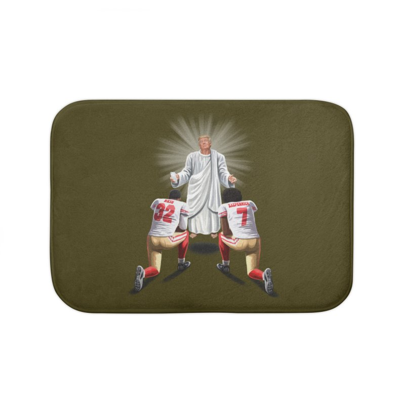 You Will Stand for Me im God. Home Bath Mat by steveash's Artist Shop