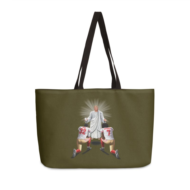 You Will Stand for Me im God. Accessories Weekender Bag Bag by steveash's Artist Shop