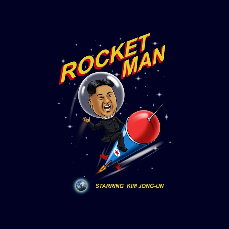Rocket Man Home Mounted Aluminum Print by steveash's Artist Shop